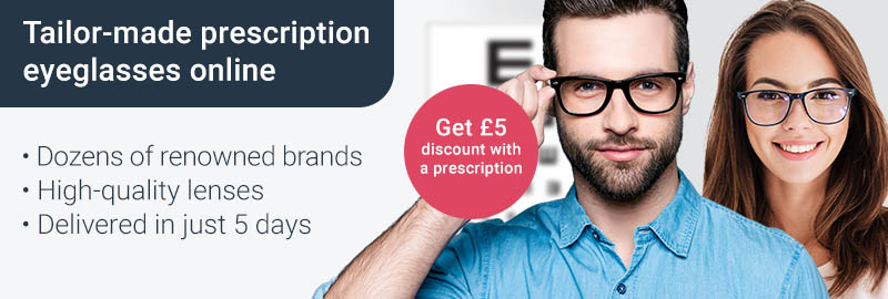 Get a £5 discount on glasses with us via your prescription