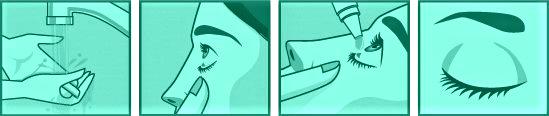 volg deze makkelijke stappen om oogdruppels te gebruiken