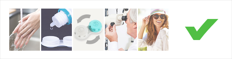 Dos for contact lens care