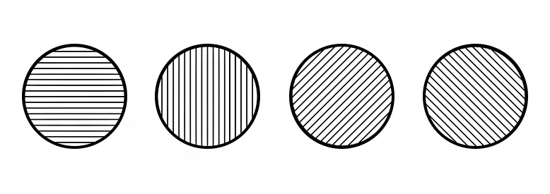 f8c5c2be312 Test of irregular curvature of the cornea - four circles with the black  lines each in