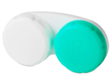 Alensa.co.uk - Contact lenses - Lens Case Green & White