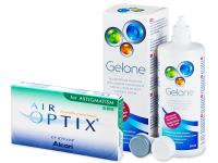 Air Optix for Astigmatism (6 lenses) + Gelone Solution 360 ml