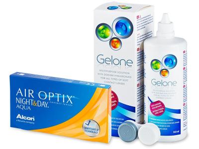 Air Optix Night and Day Aqua (6lenses) +GeloneSolution 360ml