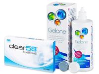 Alensa.co.uk - Contact lenses - Clear 58 (6lenses)