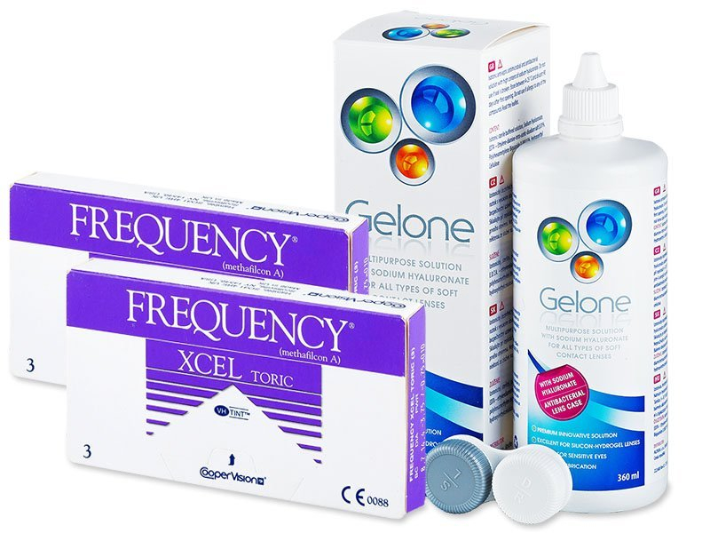 FREQUENCY XCEL TORIC (2x3 lenses) + Gelone Solution 360 ml