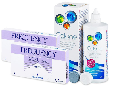 FREQUENCY XCEL TORIC XR (2x3 lenses) + Gelone Solution 360 ml