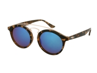 Alensa.co.uk - Contact lenses - Kids sunglasses Alensa Panto Havana Blue Mirror