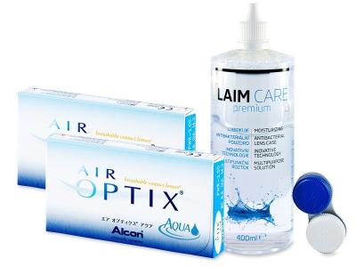 Air Optix Aqua (2x3lenses) +Laim-CareSolution 400ml