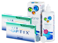 Air Optix for Astigmatism (2x3 lenses) + Gelone Solution 360 ml