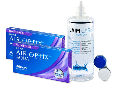 Air Optix Aqua Multifocal (2x3 lenses) + Laim-Care Solution 400ml