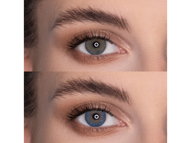 Blue contact lenses - natural effect - Air Optix (2 monthly coloured lenses)