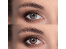 Brown contact lenses - natural effect - power - Air Optix (2 monthly coloured lenses)
