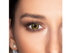Gemstone Green contact lenses - natural effect - power - Air Optix (2 monthly coloured lenses)