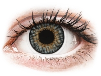 Grey contact lenses - natural effect - power - Air Optix (2 monthly coloured lenses)