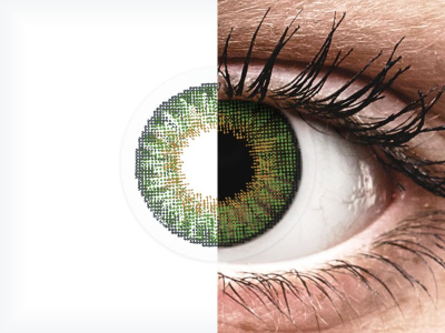 Green contact lenses - natural effect - power - Air Optix (2 monthly coloured lenses)