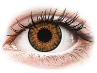 Alensa.co.uk - Contact lenses - Brown Honey contact lenses - natural effect - power - Air Optix