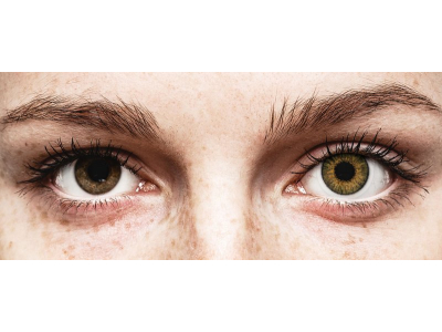Brown Pure Hazel contact lenses - natural effect - power - Air Optix (2 monthly coloured lenses)