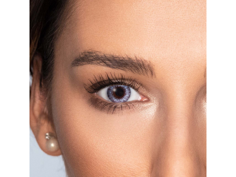 Grey Sterling contact lenses - natural effect - power - Air Optix (2 monthly coloured lenses)