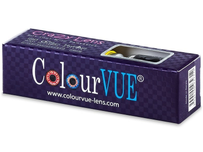 Black BlackOut contact lenses - ColourVue Crazy (2 coloured lenses)