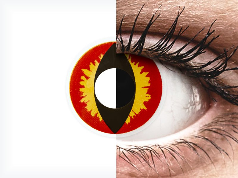 Red And Yellow Dragon Eyes Colourvue Crazy Lenses 2