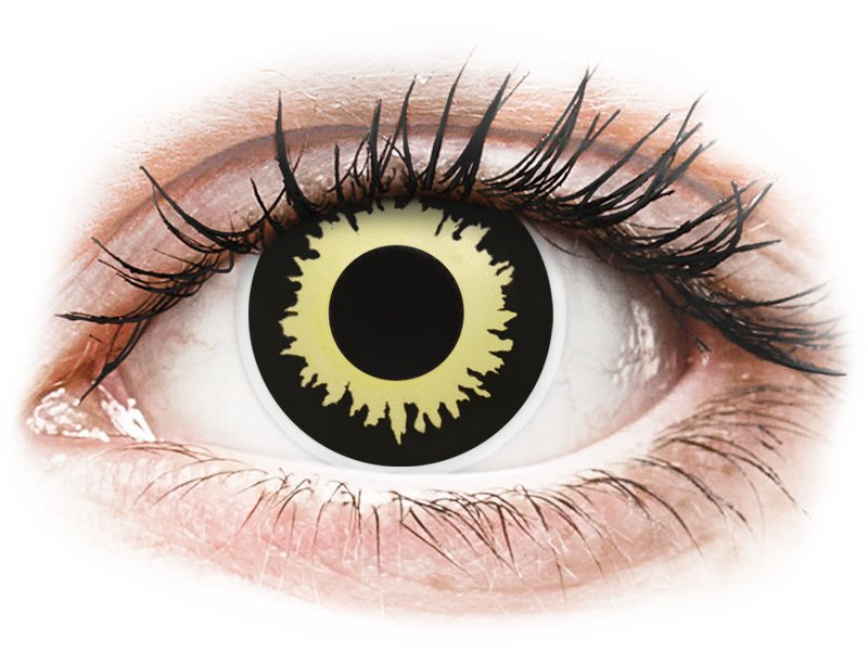ad65bfd8cdfb ... Yellow Eclipse contact lenses - ColourVue Crazy (2 coloured lenses) ...