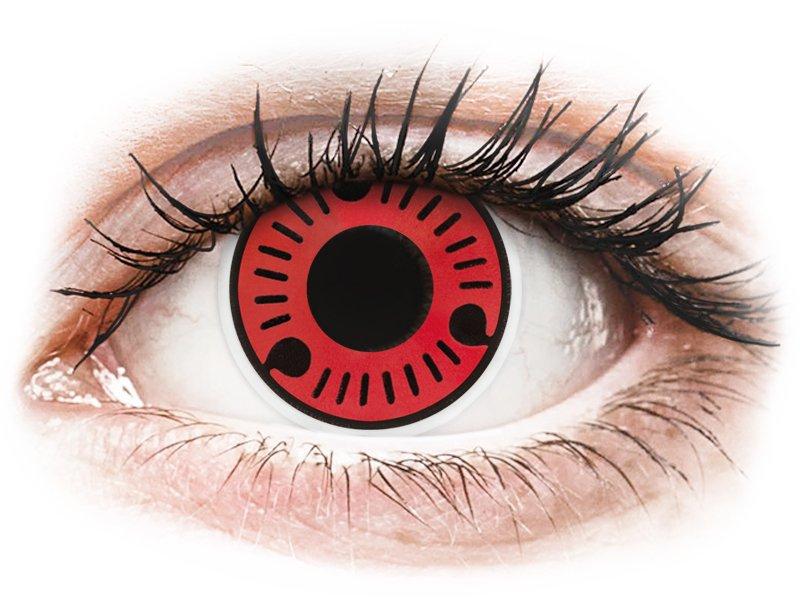 Red Sasuke Contact Lenses Colourvue Crazy 2 Coloured Lenses