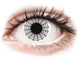 Alensa.co.uk - Contact lenses - Black and White Spider contact lenses - ColourVue Crazy