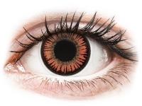 Alensa.co.uk - Contact lenses - Red Orange Vampire contact lenses - ColourVue Crazy