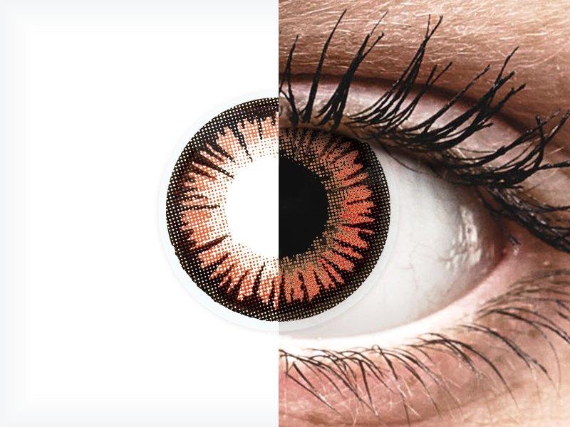 38f01c9ca ... Red Orange Vampire contact lenses - ColourVue Crazy (2 coloured lenses)  ...