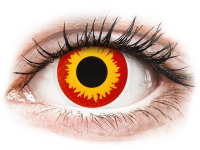 Alensa.co.uk - Contact lenses - Red and Yellow Wildfire contact lenses - ColourVue Crazy