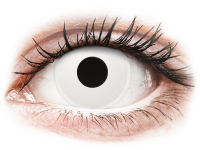 Alensa.co.uk - Contact lenses - White WhiteOut contact lenses - ColourVue Crazy