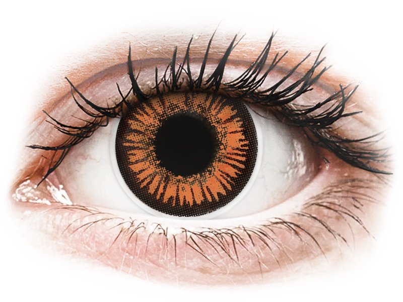 e9cef188eb0 ... Orange Twilight contact lenses - power - ColourVue Crazy (2 coloured  lenses) ...