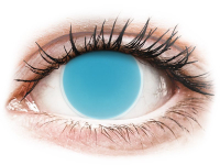 Alensa.co.uk - Contact lenses - Electric Blue Glow contact lenses - ColourVue Crazy