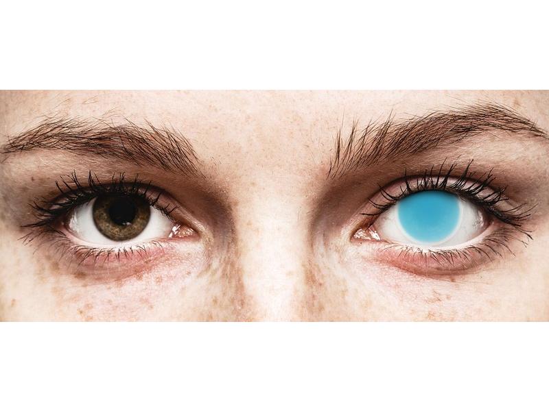7217f6673 ... Electric Blue Glow contact lenses - ColourVue Crazy (2 coloured lenses)  ...