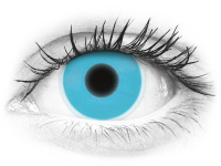 Blue Glow contact lenses - ColourVue Crazy (2 coloured lenses)