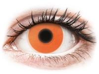 Alensa.co.uk - Contact lenses - Orange Glow contact lenses - ColourVue Crazy