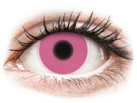 Alensa.co.uk - Contact lenses - Pink Glow contact lenses - ColourVue Crazy
