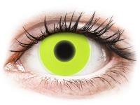Alensa.co.uk - Contact lenses - Yellow Glow contact lenses - ColourVue Crazy