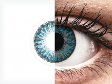 Blue contact lenses - power - TopVue Color (10 daily coloured lenses)