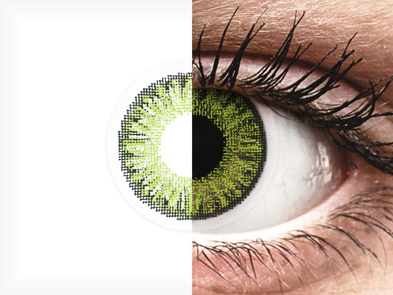 Fresh Green contact lenses - TopVue Color (10 daily coloured lenses)