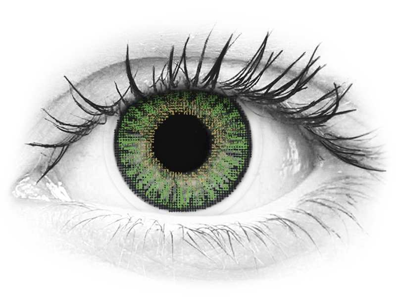 Green contact lenses - power - TopVue Color (10 daily coloured lenses)