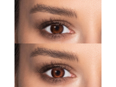 Brown contact lenses - power - TopVue Color (2monthly coloured lenses)