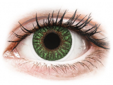 Green contact lenses - power - TopVue Color (2 monthly coloured lenses)