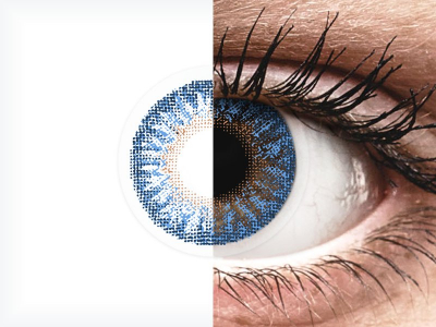 Blue True Sapphire contact lenses - power -TopVue Color (2 monthly coloured lenses)