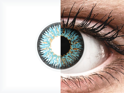 Blue Aqua Glamour contact lenses - ColourVue (2 coloured lenses)