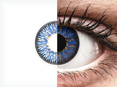 Blue Glamour contact lenses - power - ColourVue (2 coloured lenses)