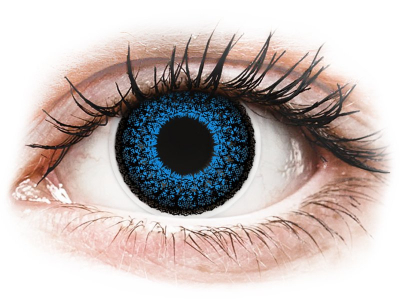 Blue Aqua Eyelush contact lenses - ColourVue (2 coloured lenses)