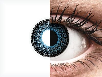 Blue Eyelush contact lenses - ColourVue (2 coloured lenses)