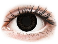 Dolly Black contact lenses - power - ColourVue BigEyes (2 coloured lenses)