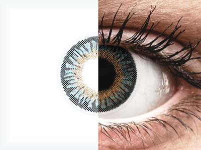 Blue 3 Tones contact lenses - power - ColourVue (2 coloured lenses)